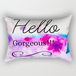 Hello Gorgeous Sign, Hello Gorgeous Wall Art, Bedroom Wall Decor Rectangular Pillow
