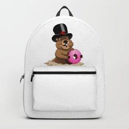 Groundhog Donut Backpack