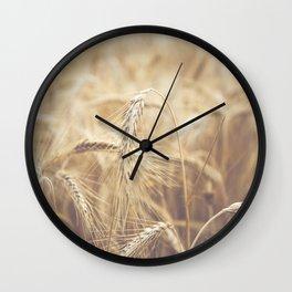 Summer time on farm Wall Clock