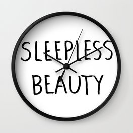 Sleepless Beauty Wall Clock