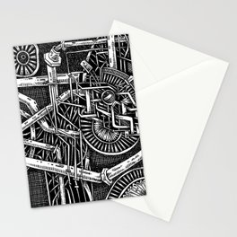 Gears of the universe Stationery Cards