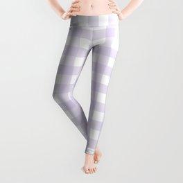 Lilac gingham pattern Leggings