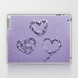 Ultra Violet LOVE Glitter Hearts #1 #shiny #decor #art #society6 Laptop & iPad Skin