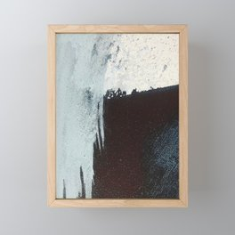 Like A Gentle Hurricane [3]: a minimal, abstract piece in blues and white by Alyssa Hamilton Art Framed Mini Art Print
