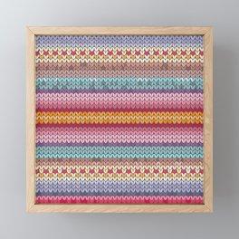 knitting pattern Framed Mini Art Print
