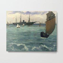 """Edouard Manet - Le """"Kearsarge"""" à Boulogne Metal Print"""