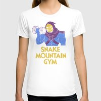 T-shirts featuring snake mountain gym by Louis Roskosch