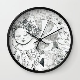 Sweet Dreams by Ines Zgonc Wall Clock