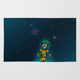 Giant Cats from Outer Space! Rug
