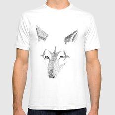 Red Wolf - Can You See How Much Is Left? Mens Fitted Tee White MEDIUM
