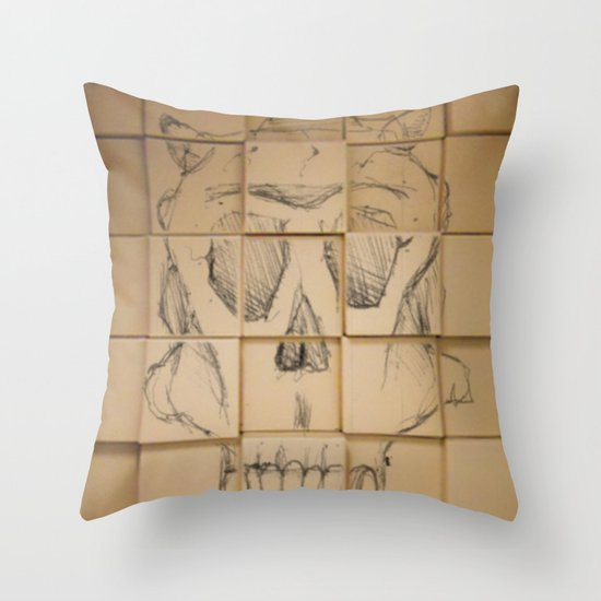 Space in Boxes Throw Pillow