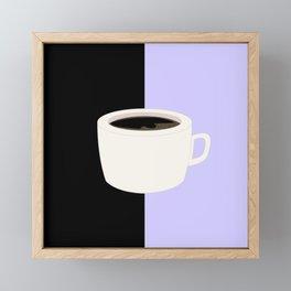 Lilac Coffee Framed Mini Art Print