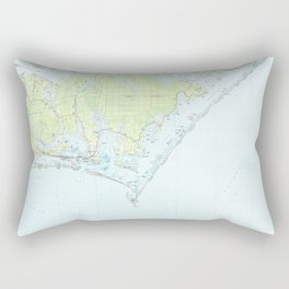 Cape Lookout National Seashore & Morehead City Map Rectangular Pillow