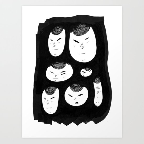 Martians. Art Print