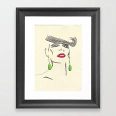 Pout&Quiff Framed Art Print
