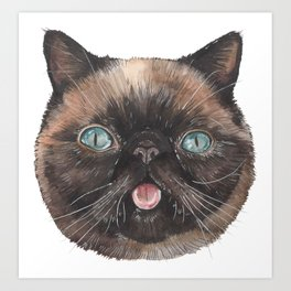Der the Cat - artist Ellie Hoult Art Print