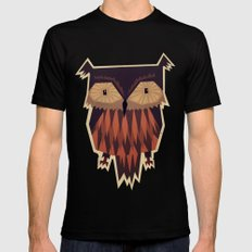 Owl LARGE Black Mens Fitted Tee