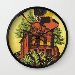 OLD TIMEY DARKNESS Wall Clock