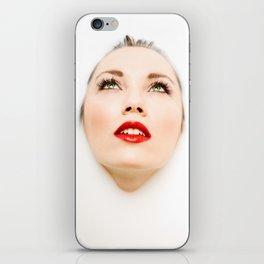 Face In Milk iPhone Skin