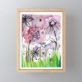 Flower Doodle 1 Framed Mini Art Print