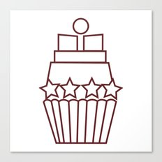 Cupcake Star Canvas Print