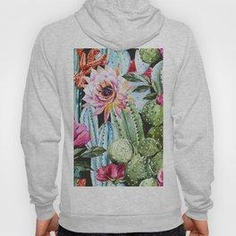 Watercolor Flowers Art Work Hoody