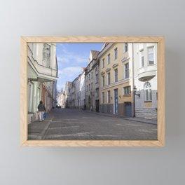 Streets of Tallinn Estonia Framed Mini Art Print