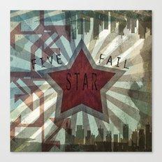 Five Star Fail. Canvas Print