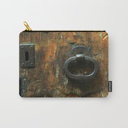 Old Wooden Door with Keyholes Carry-All Pouch