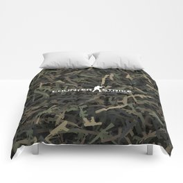 Counter strike weapon camouflage Comforters
