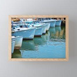 Boats Reflected Framed Mini Art Print