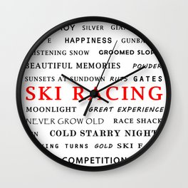 Ski Racing Wall Clock
