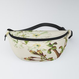 Gyoi-ko or Robe Yellow Cherry Blossoms Fanny Pack