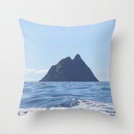 Skellig Michael Throw Pillow