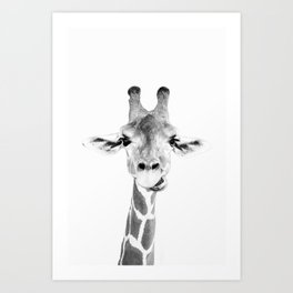 Hey Giraffe Art Print