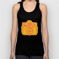 I Still Shoot Film Holga Logo - Reversed Yellow & Red Unisex Tank Top