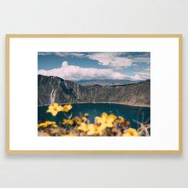 Quilotoa Lagoon Ecuador Framed Art Print