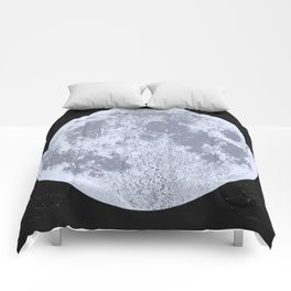 Blue Full Moon Print, by Christy Nyboer Comforters