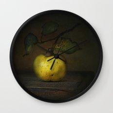 autumn fruit ( quince ) Wall Clock