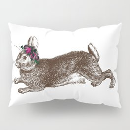 The Rabbit and Roses Pillow Sham