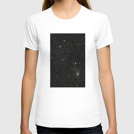 Universe Space Stars Planets Galaxy Black and White T-shirt