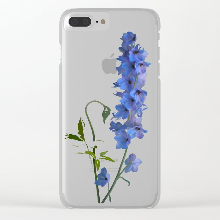 Consolida, watercolors Clear iPhone Case