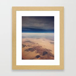 Surface of the Moon Framed Art Print