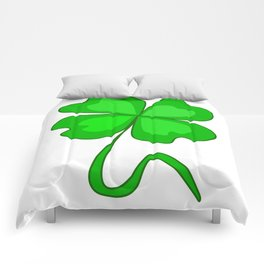 St. Patrick's Day - Magic Quatrefoil Comforters