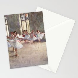 Ballet Rehearsal 1873 By Edgar Degas | Reproduction | Famous French Painter Stationery Cards