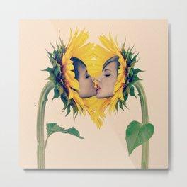 Quiverish Sunflower Kiss 4 Metal Print
