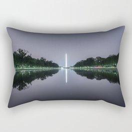 Washington Memorial from the Lincoln Memorial No. 1 Rectangular Pillow