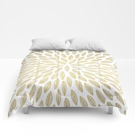Just Gold Leaves Comforters