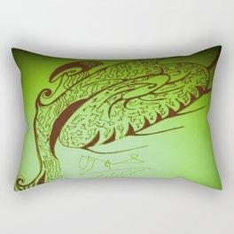 Encre sur une danse d'éventail Rectangular Pillow