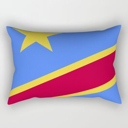 Democratic Republic of the Congo flag emblem Rectangular Pillow